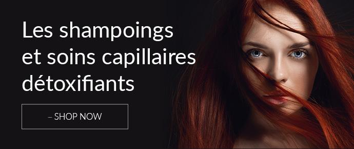 Les shampoings et soins capillaires détoxifiants